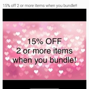 Other - 15% 2 or more items when you bundle